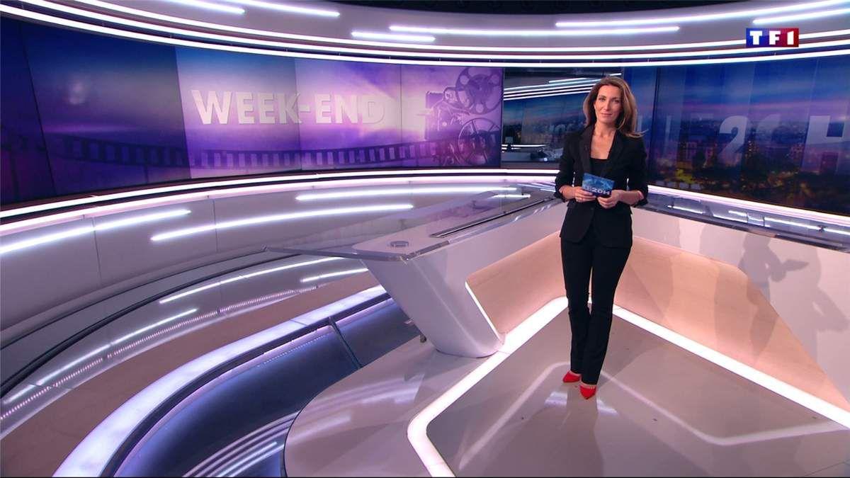 Anne-Claire Coudray JT 20H TF1 le 25.02.2017