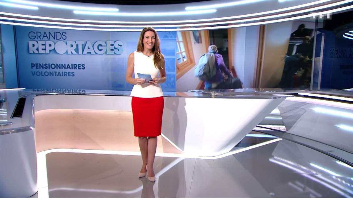 Anne-Claire Coudray JT 13H TF1 le 25.02.2017