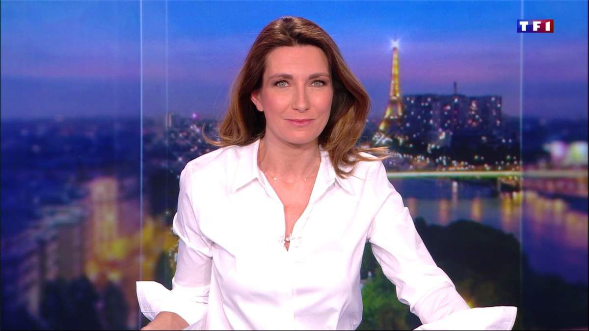 Anne-Claire Coudray JT 20H TF1 le 03.03.2017