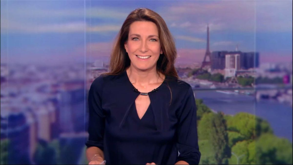 Anne-Claire Coudray JT 13H TF1 le 04.03.2017