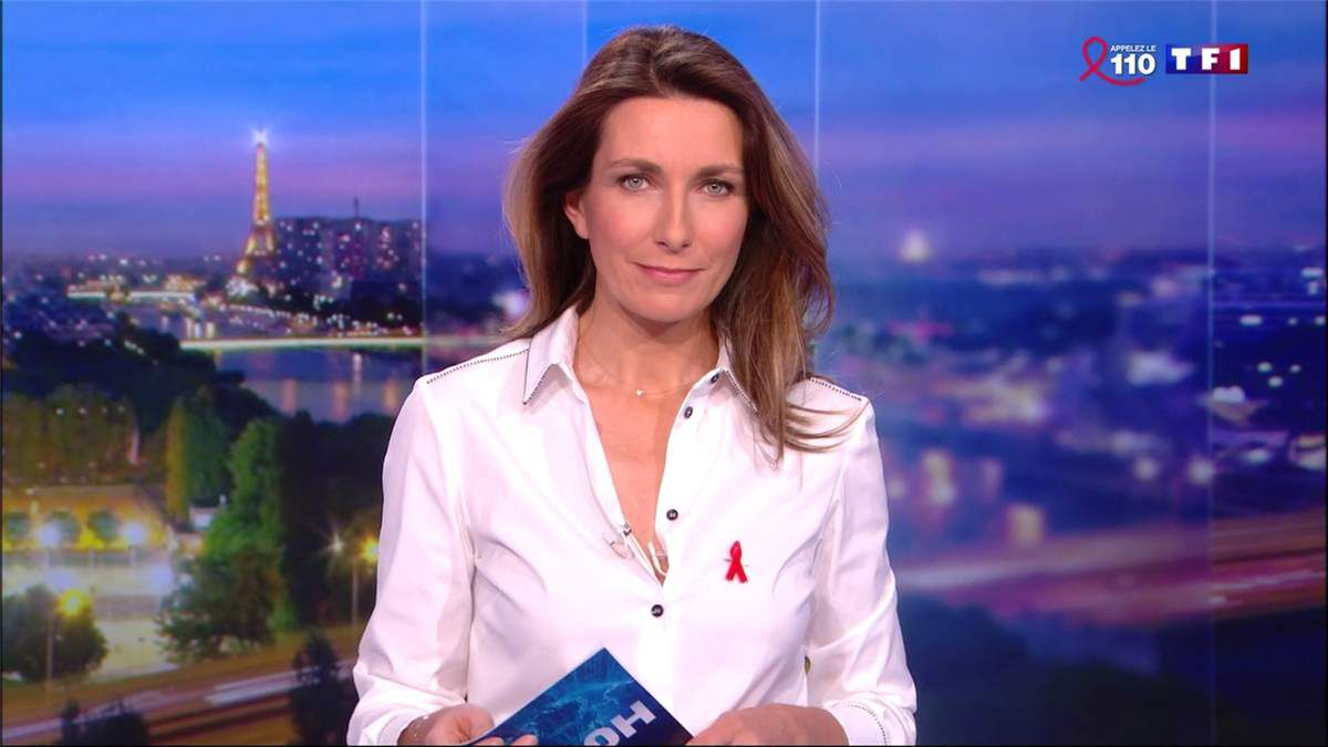 Anne-Claire Coudray JT 20H TF1 le 24.03.2017