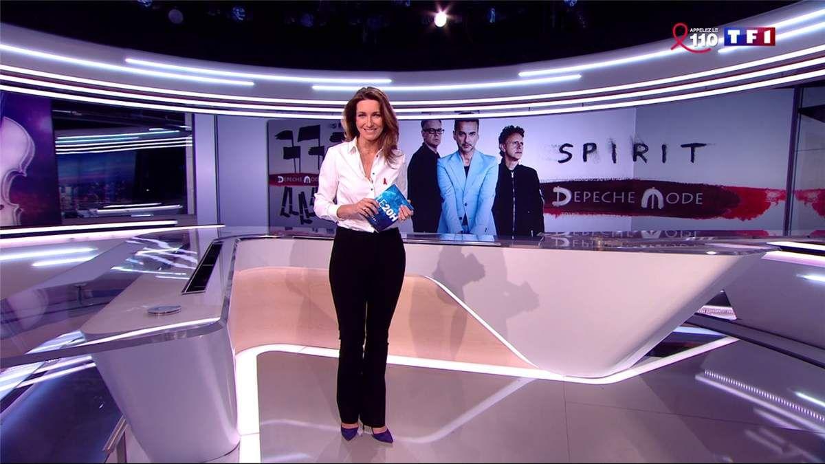 Anne-Claire Coudray JT 20H TF1 le 24.03.2017