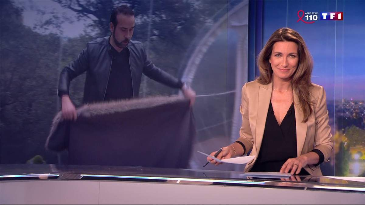 Anne-Claire Coudray JT 20H TF1 le 26.03.2017