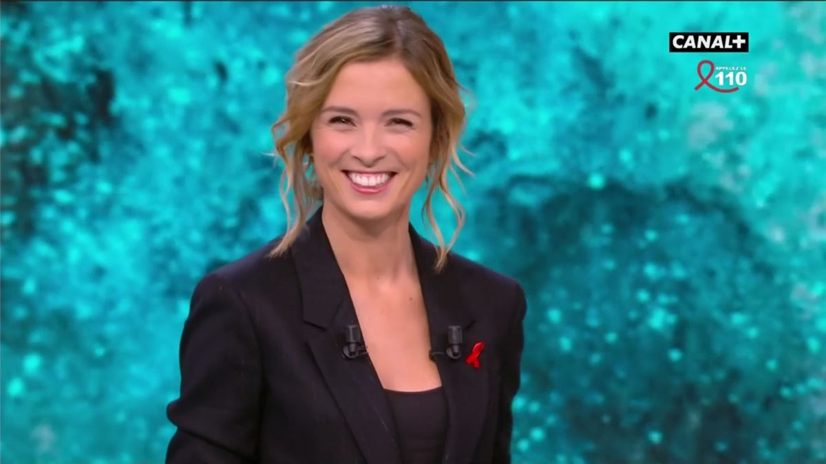 Isabelle Ithurburu Canal Rugby Club Canal+ le 26.03.2017
