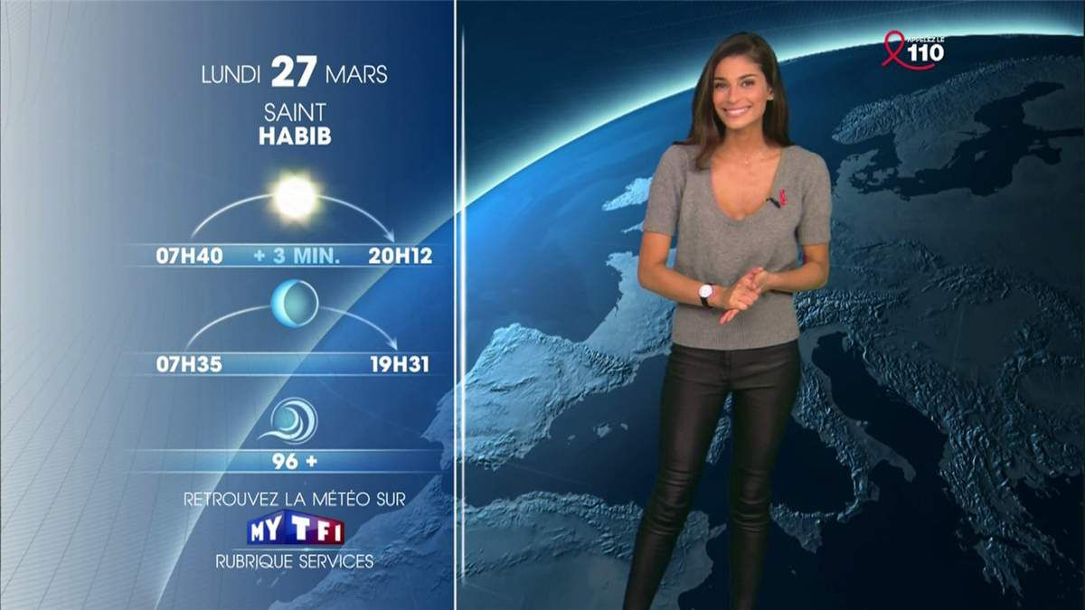 Tatiana Silva Météo TF1 le 26.03.2017