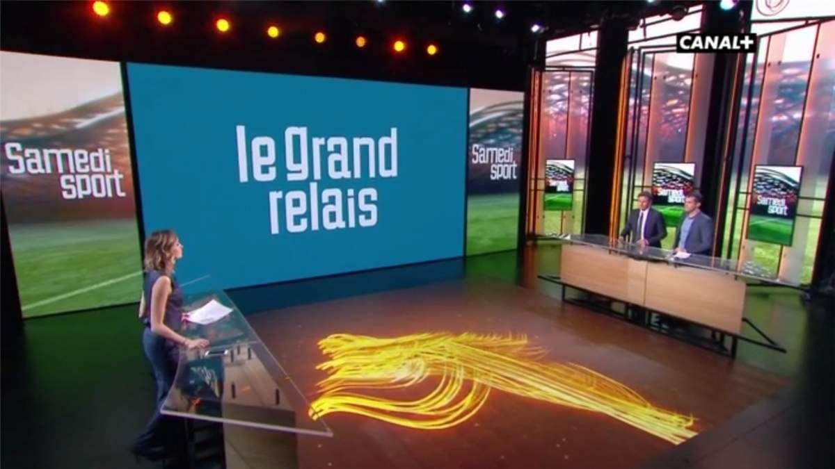 Isabelle Ithurburu Le Grand Relais Canal+ le 08.04.2017