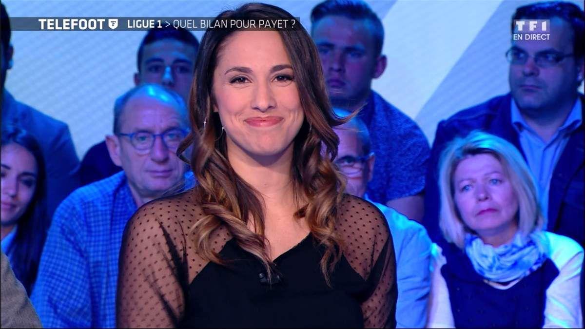 Charlotte Namura Téléfoot TF1 le 16.04.2017