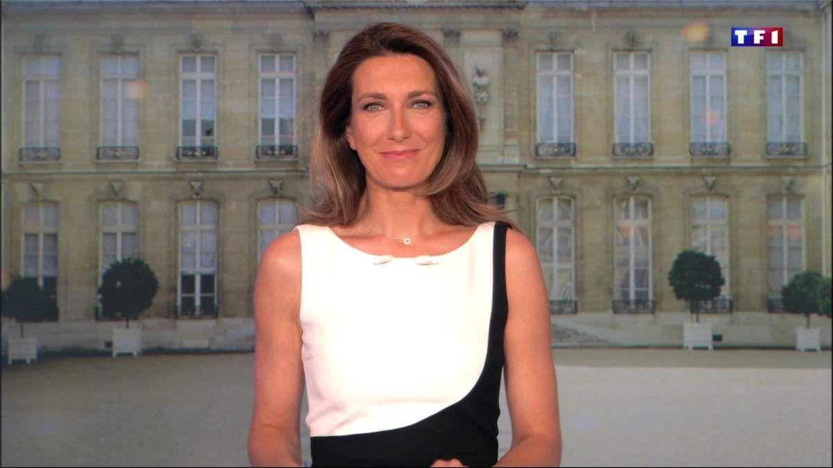 Anne-Claire Coudray JT 13H TF1 le 23.04.2017
