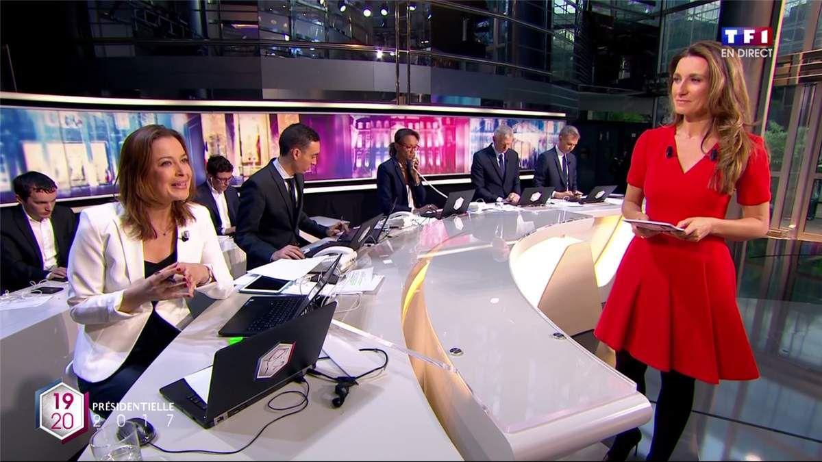 Anne-Claire Coudray Soirée Electorale TF1 le 23.04.2017