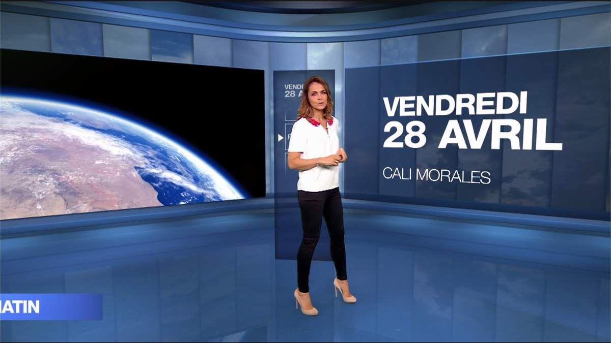 Cali Morales Météo M6 le 28.04.2017