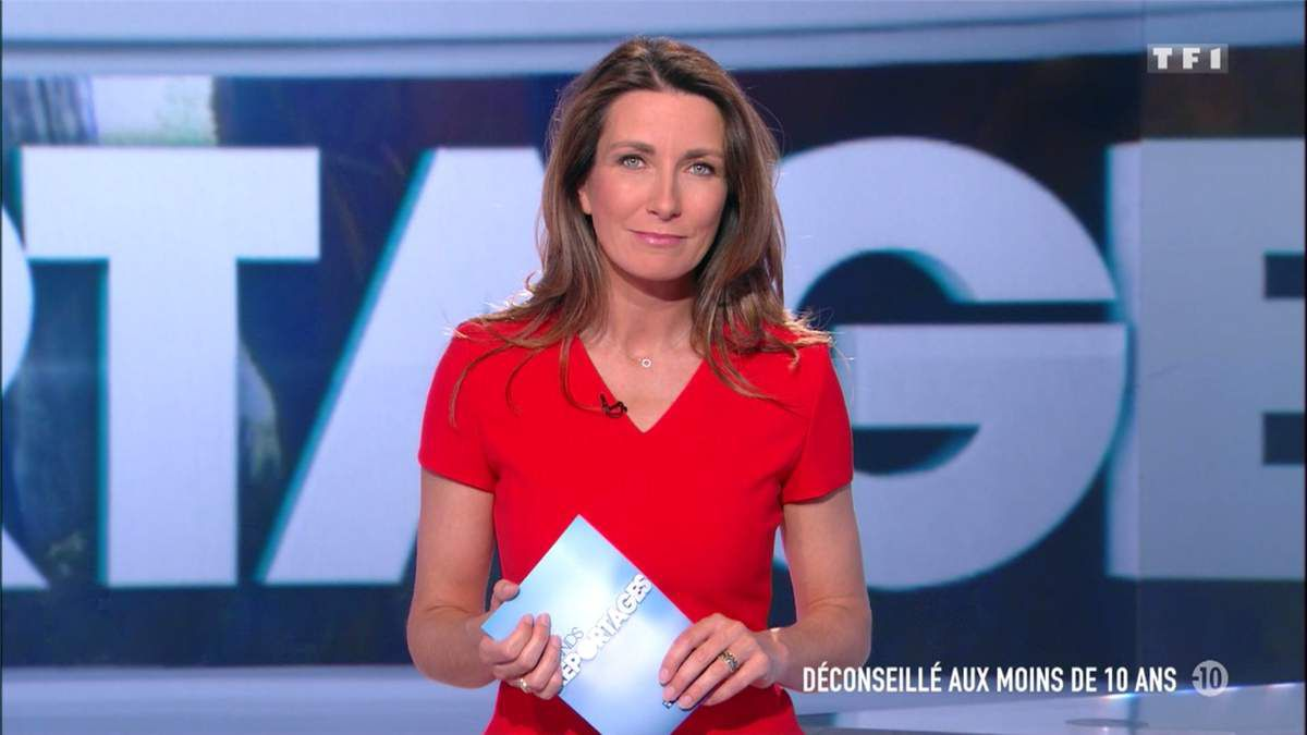 Anne-Claire Coudray JT 13H TF1 le 07.05.2017