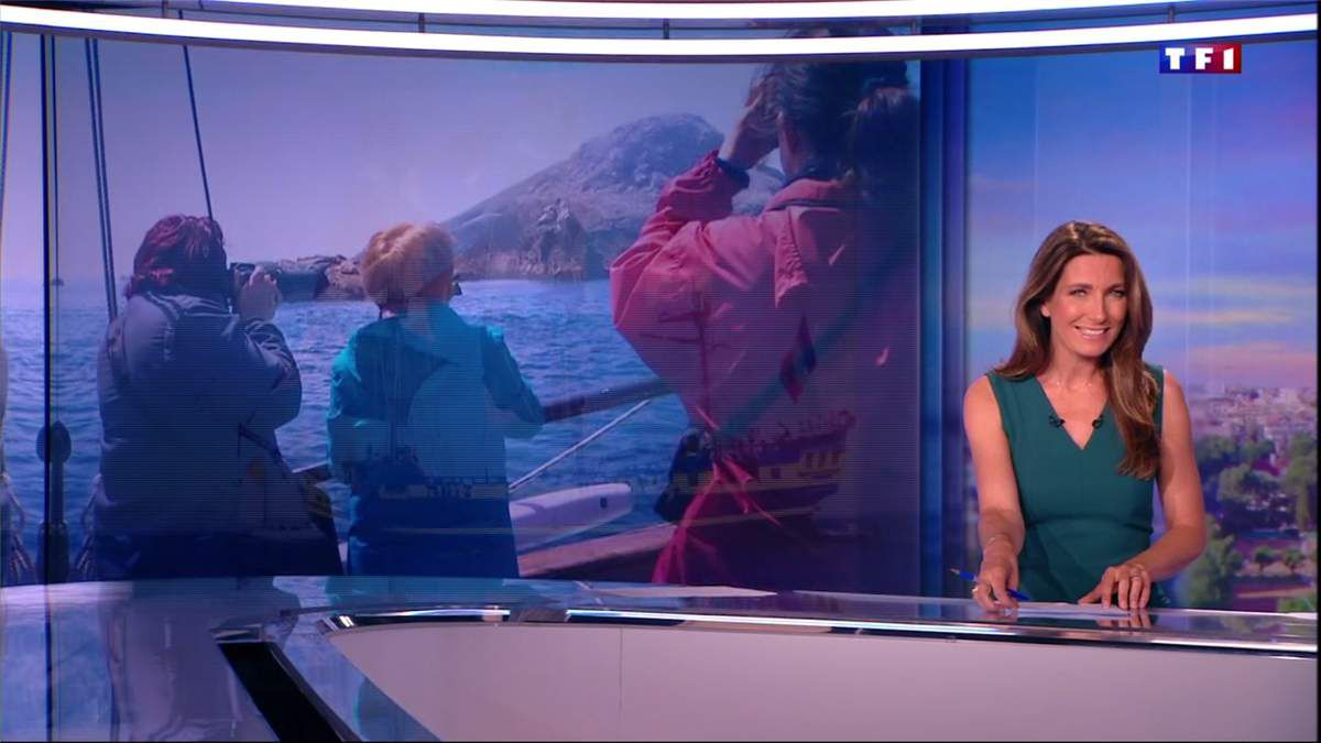 Anne-Claire Coudray JT 20H TF1 le 27.05.2017