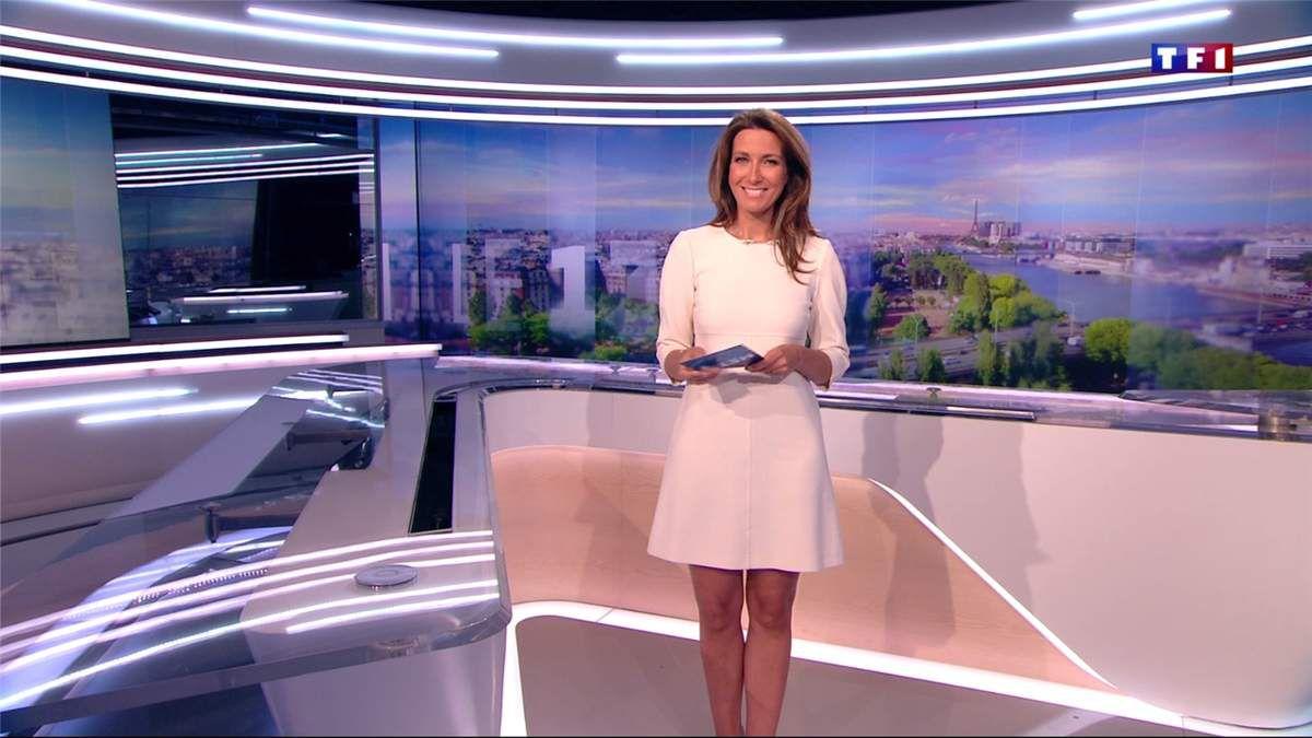 Anne-Claire Coudray JT 13H TF1 le 28.05.2017