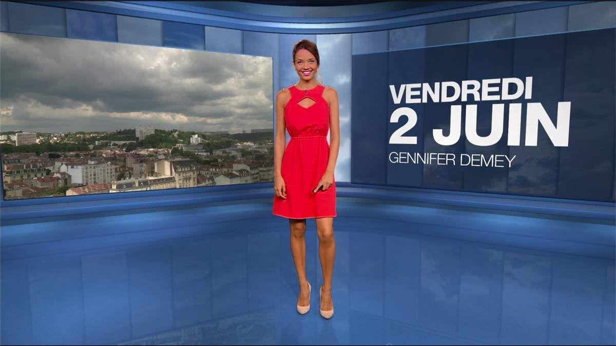 Gennifer Demey Météo M6 le 02.06.2017