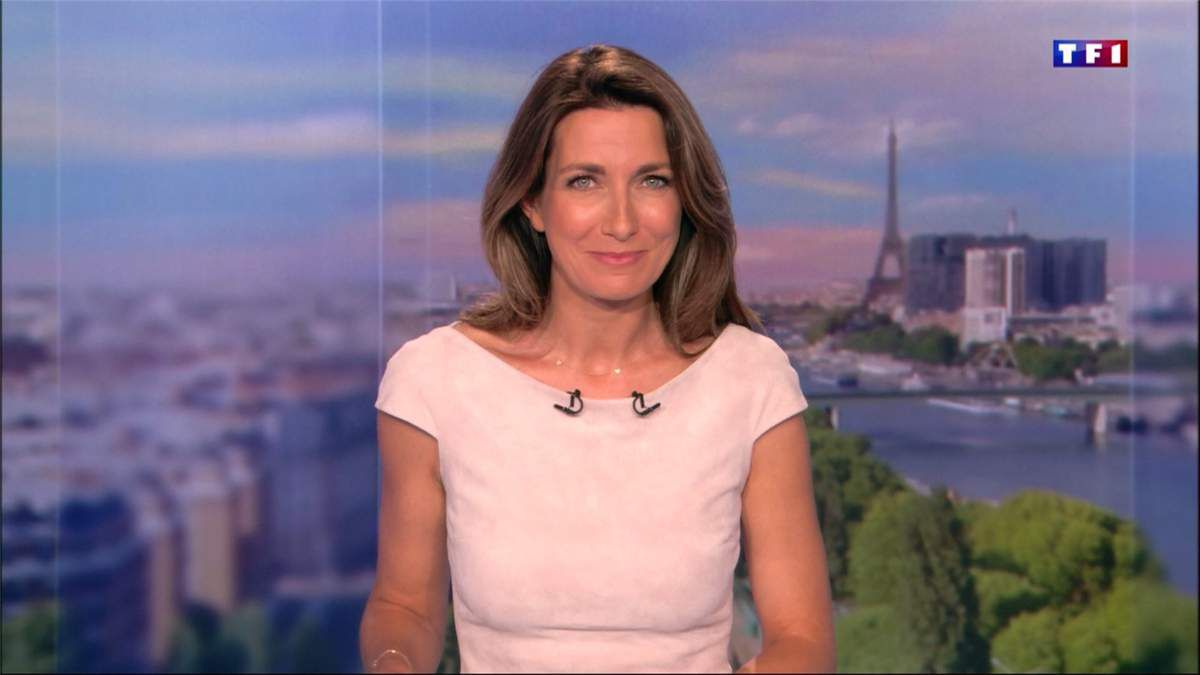 Anne-Claire Coudray JT 20H TF1 le 03.06.2017
