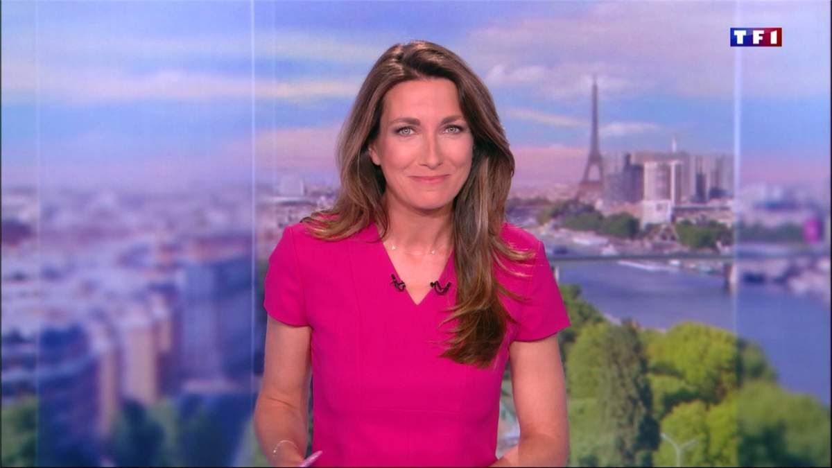 Anne-Claire Coudray JT 20H TF1 le 10.06.2017