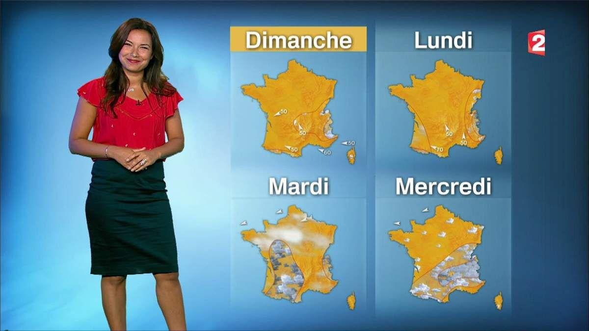 Anaïs Baydemir Météo France 2 le 16.06.2017