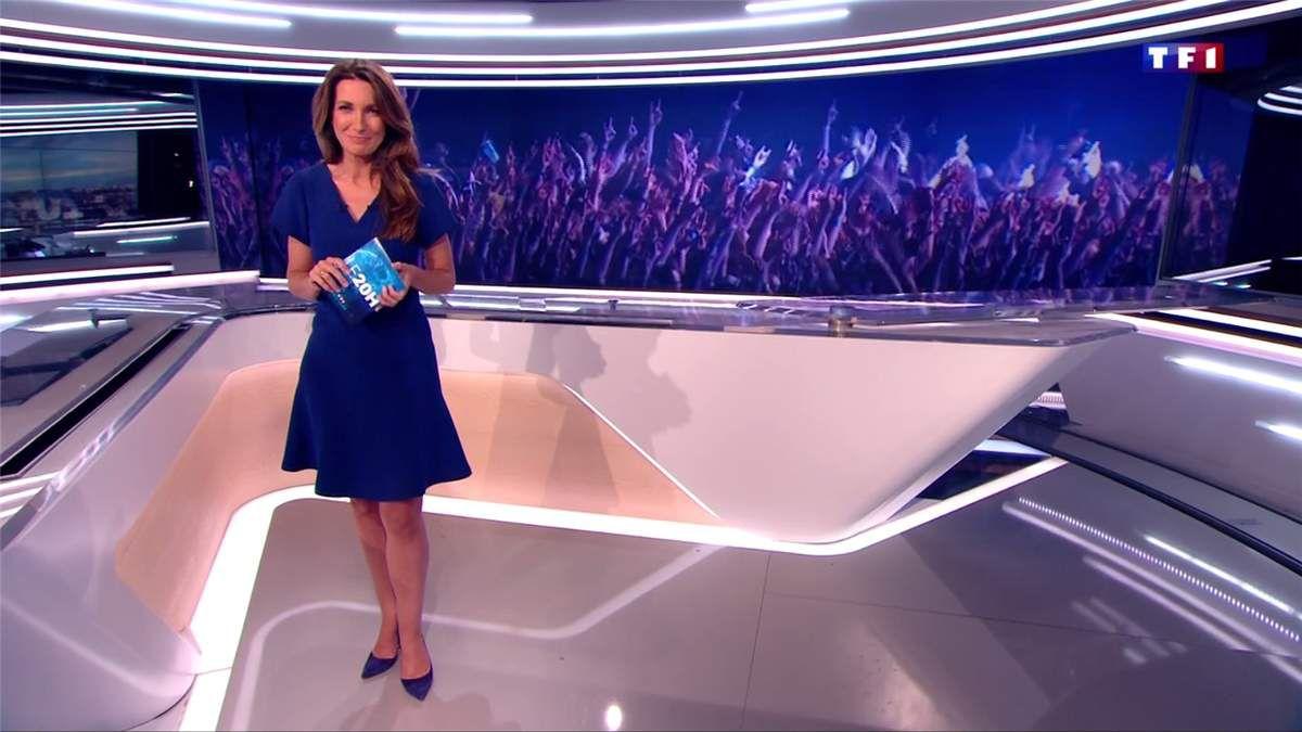 Anne-Claire Coudray JT 20H TF1 le 17.06.2017