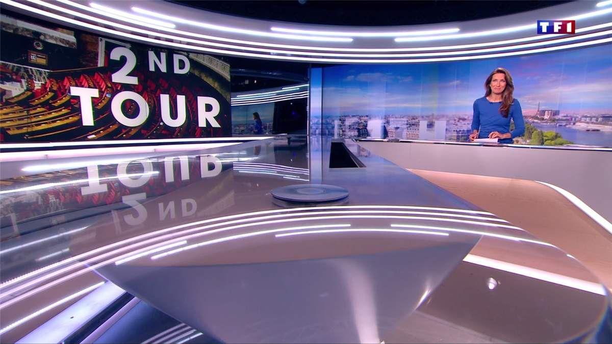Anne-Claire Coudray JT 13H TF1 le 18.06.2017