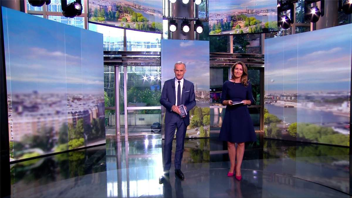 Anne-Claire Coudray Soirée Electorale TF1 le 18.06.2017