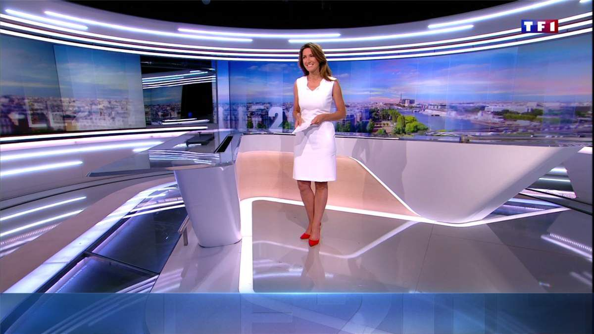 Anne-Claire Coudray JT 20H TF1 le 07.07.2017