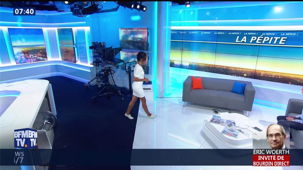 Aurélie Casse Première Edition BFM TV le 11.07.2017