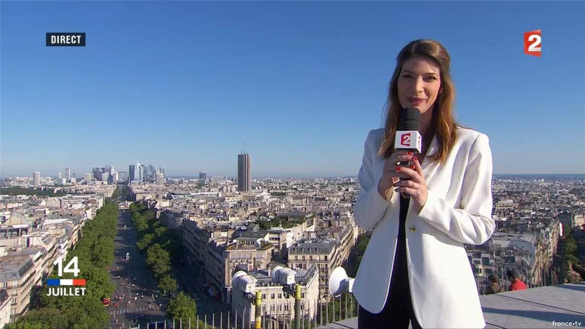 Chloé Nabédian Défilé du 14 Juillet France 2 le 14.07.2017