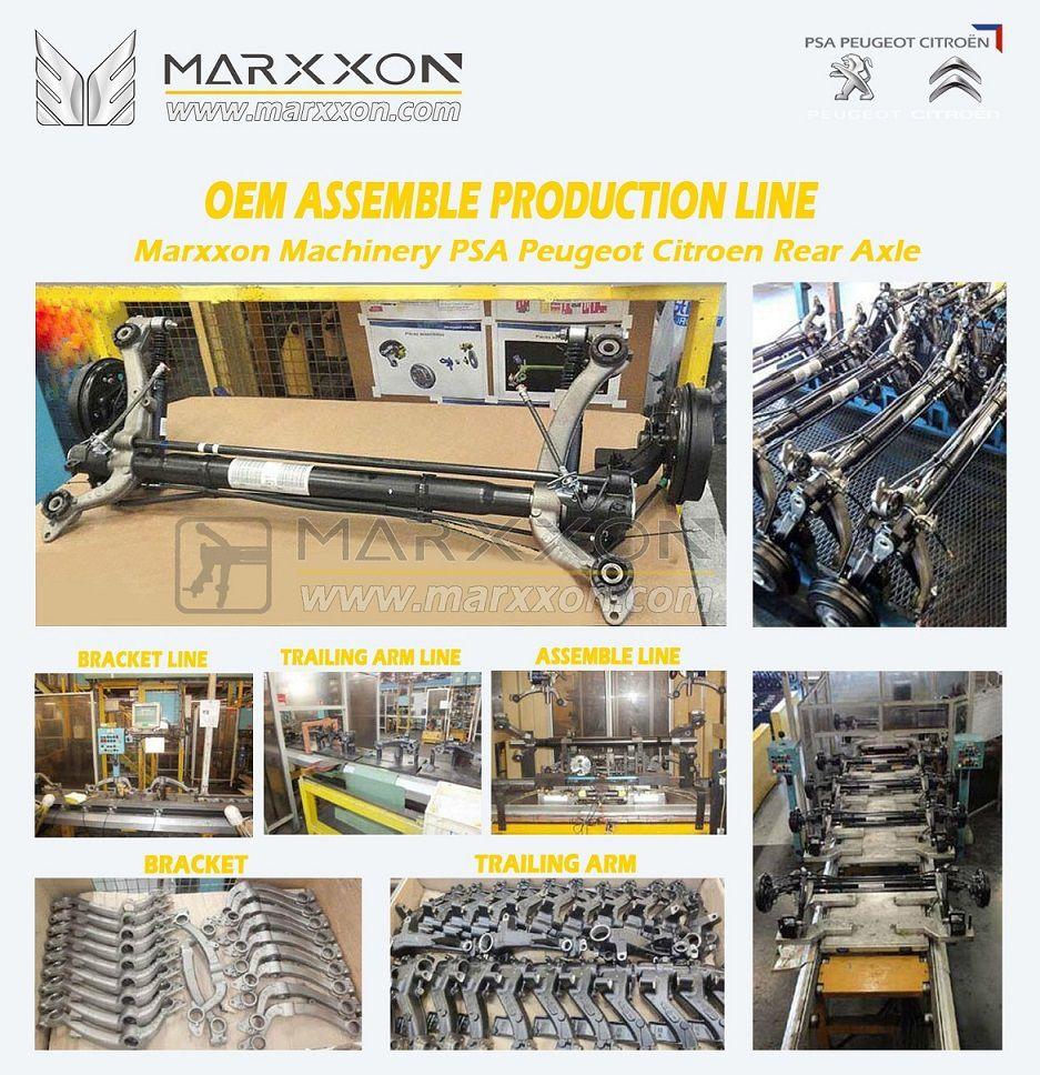 Marxxon PSA OEM Peugeot Citroen achteras Hinterachse Train arrière rear axle assemble production lin