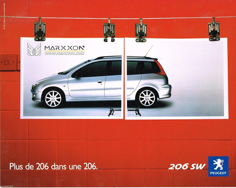 PSA Peugeot 206 206cc 206sw 206rc interesting advertising and post collections