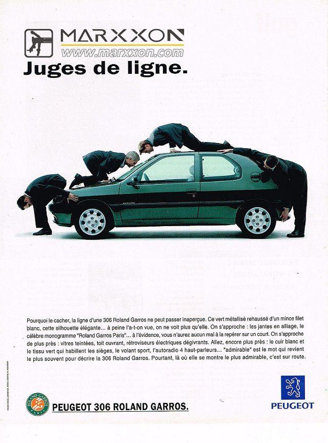 PSA Peugeot 306 GTI Citroen ZX XS Xsara publicité intéressante et créative collections de poste