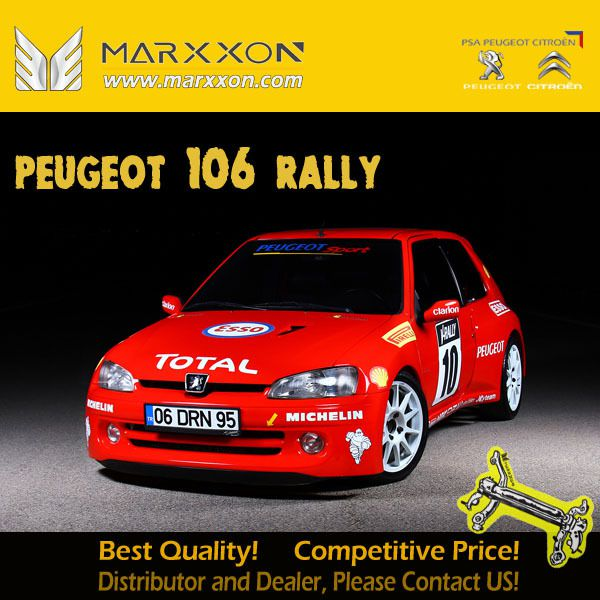 Peugeot 106 S1 rallye GTI Citroen AX Saxo Rally Race History As 205 GTi production slowly came to a close, Peugeot quickly moved onto its next hot hatch venture: the 106 Rallye.