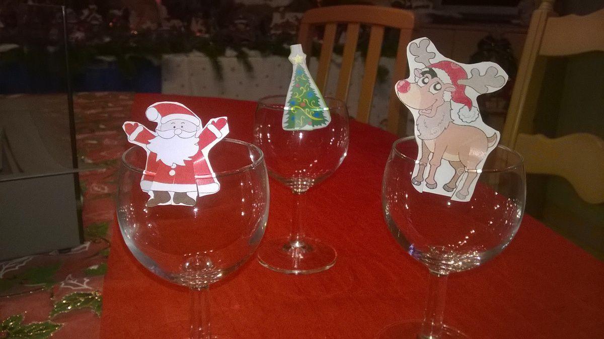 Marque-verre Noël