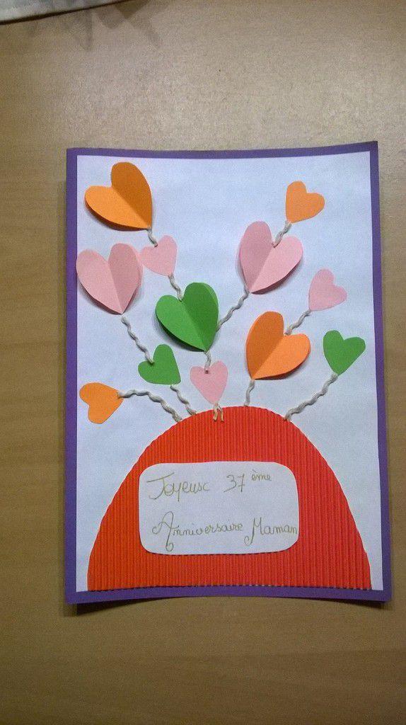 Tuto Carte bouquet de coeurs
