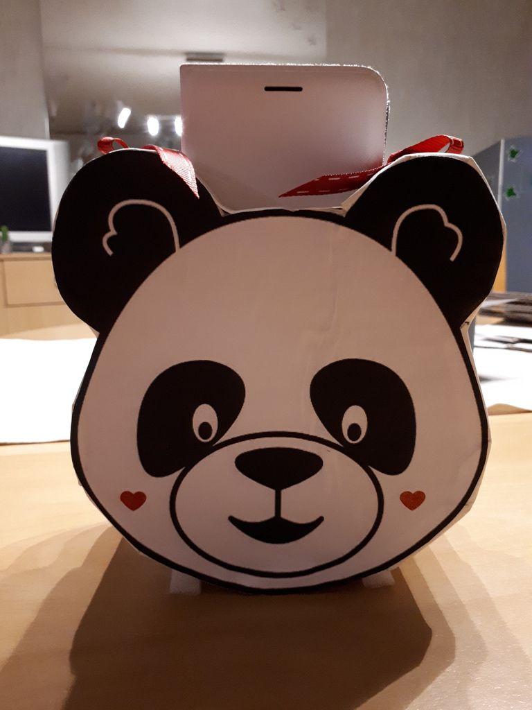 Boîte de rangement pour téléphone &quot&#x3B; Panda&quot&#x3B;