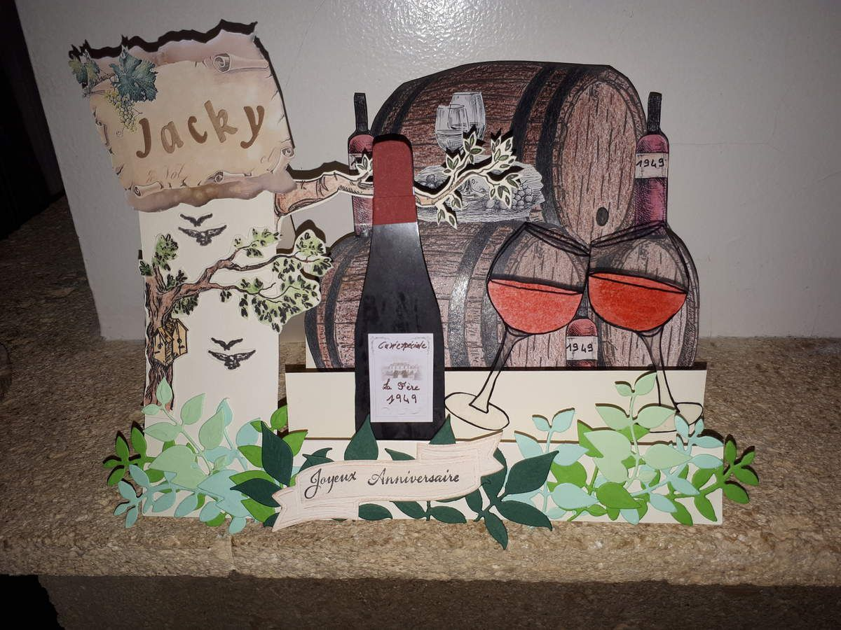 Carte vignoble chevalet