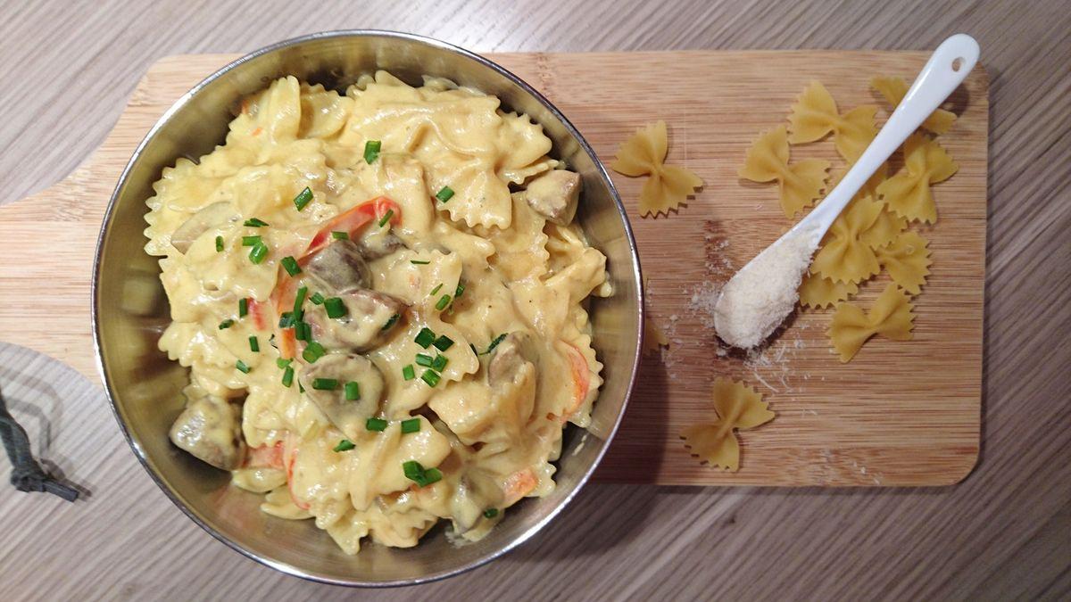 Wok de poulet petits légumes et sauce coco