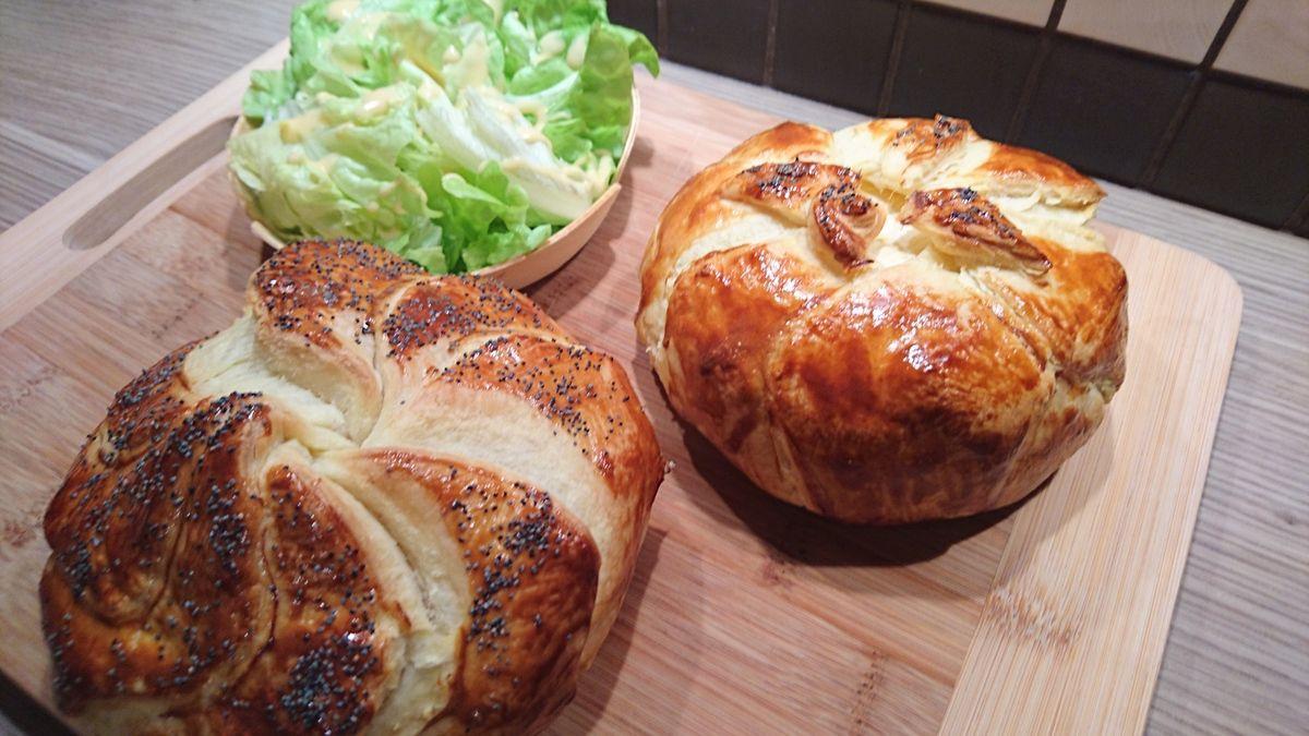 Camenbert rôti oignons caramélisés et lardons