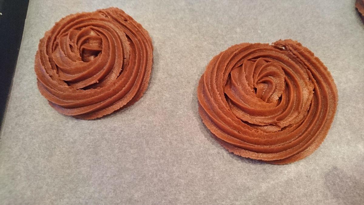 Sablés rosace au chocolat