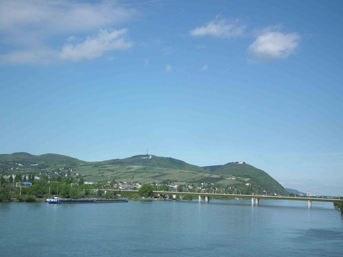 Vienne, le Danube, ses monuments et une manifestation dans la capitale
