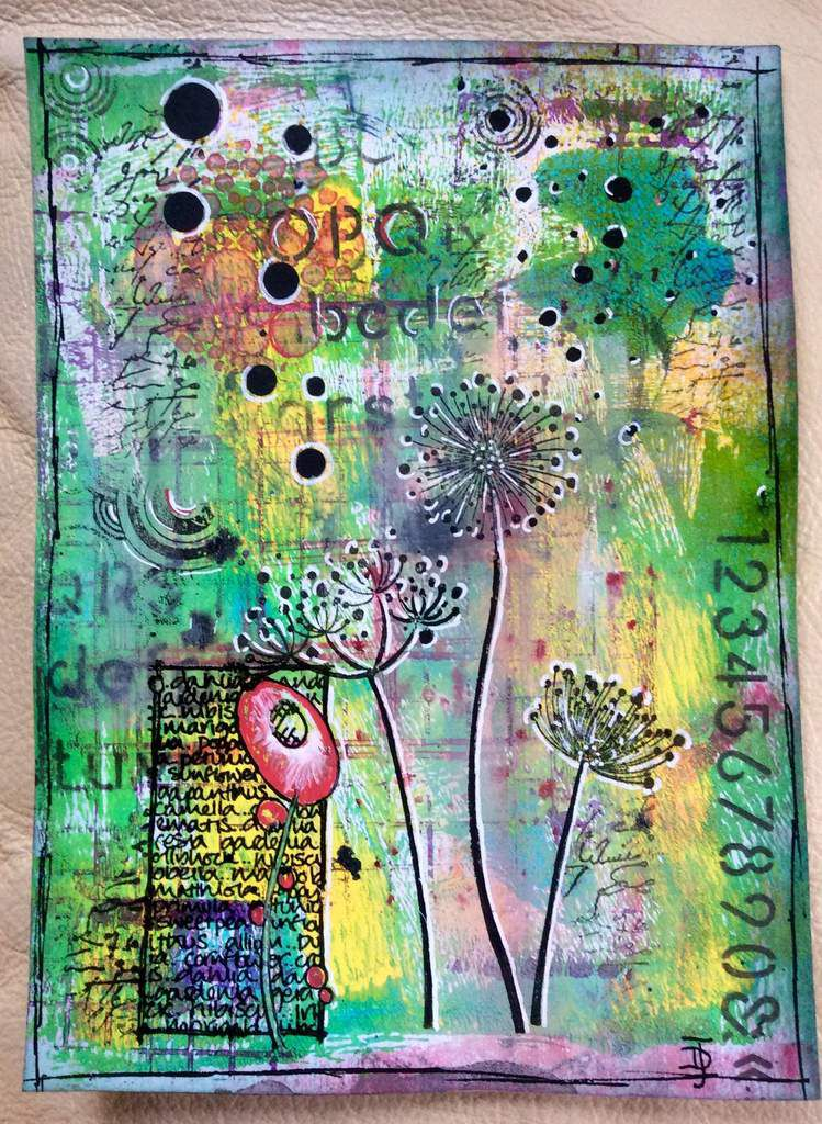 tuto mixed media feuille 1
