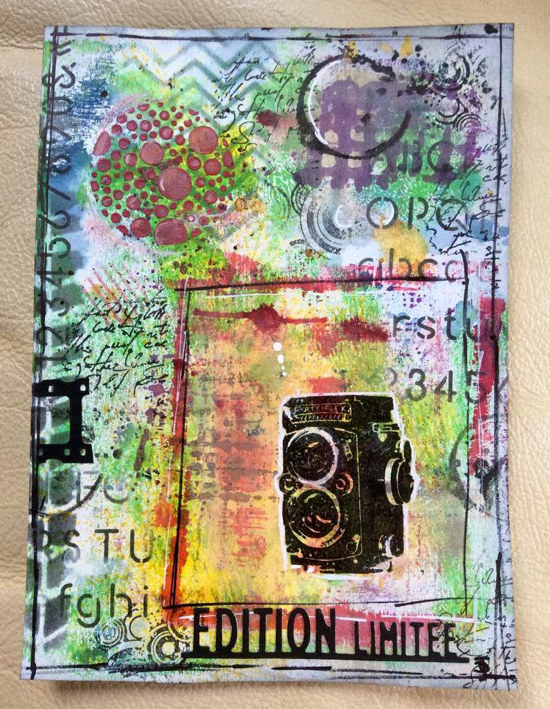 tuto mixed media feuille 2