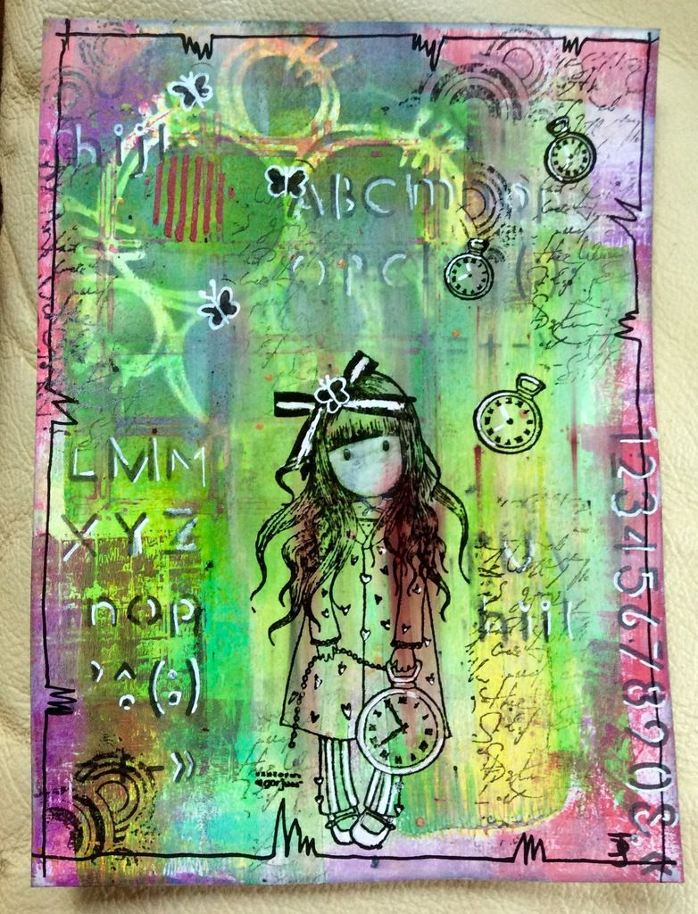 tuto mixed media feuille 3