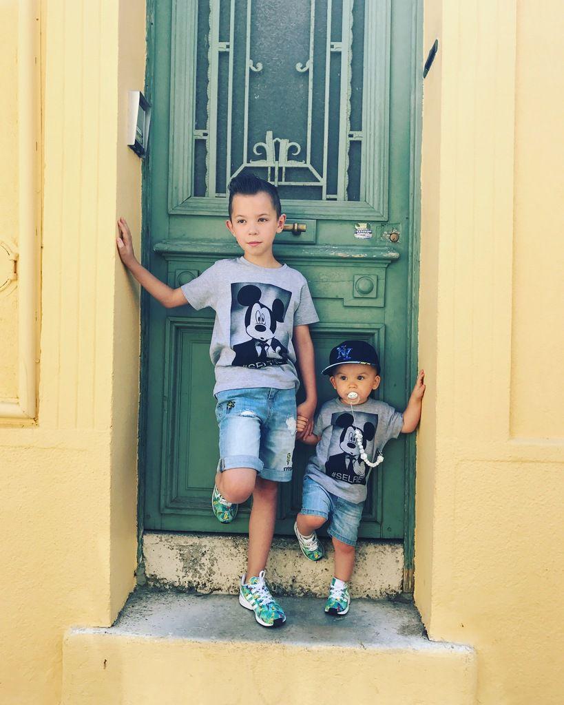 Duo de look Garçon : #littleeleven #primark #adidas Bébé: #littleeleven #levis #adidas