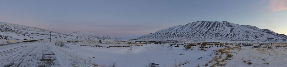 Panorama du grand froid qui se voit