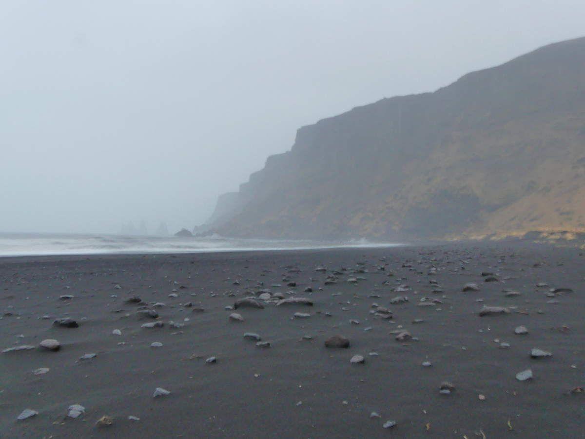 On n'a pas fait la plage de Reynisfjara qui était apparemment encore plus sympa à faire : de toute façon on ne voyait rien...