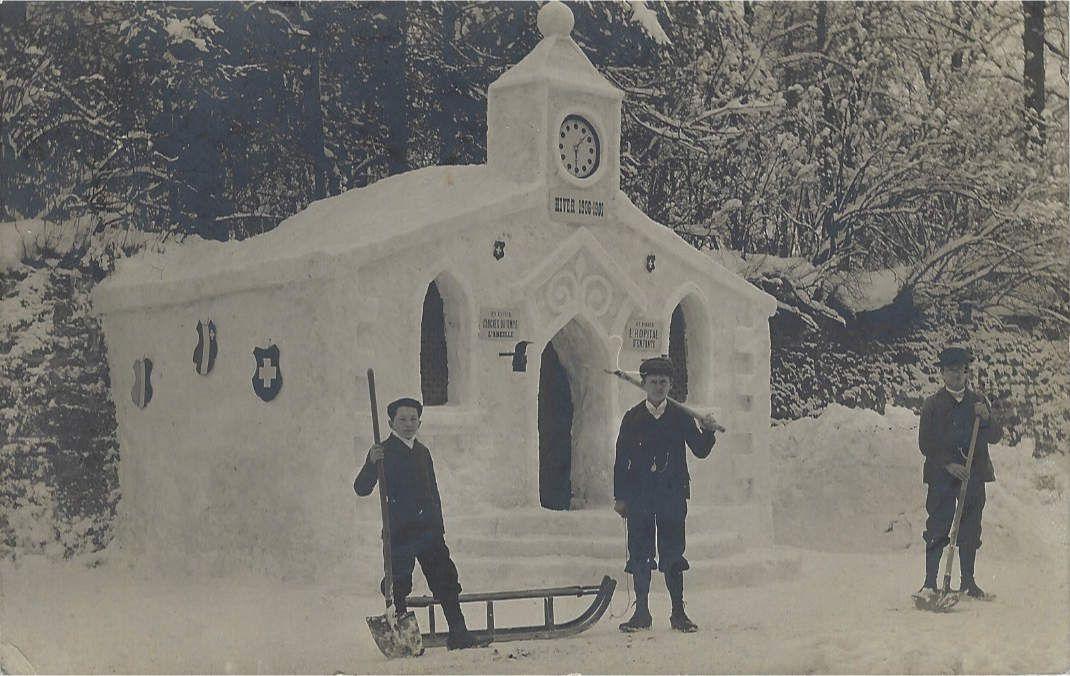 La Chaux-de-Fonds - Construction de Neige - Hiver 1906-1907 - Chapelle