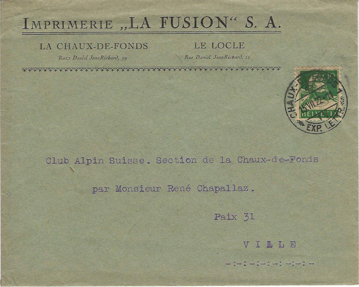Enveloppe 1922
