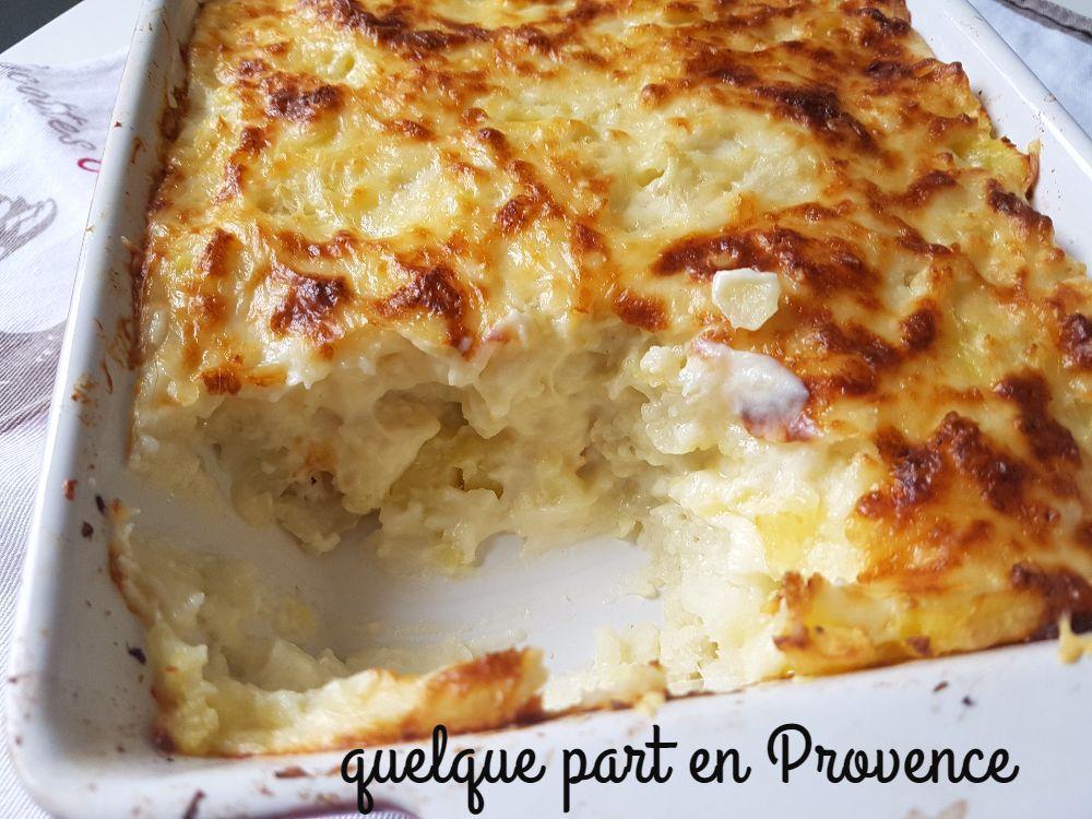 Gratin De Chou Fleur Et Pommes De Terre Quelque Part En Provence