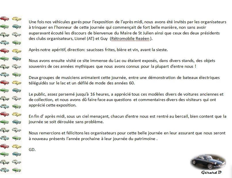 ABA44 à la JOURNÉE PARTRIMOINE 2016SAINT JULIEN DE CONCELLES