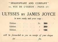 JAMES JOYCE 12 RUE DE L'ODEON